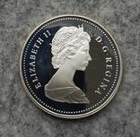 Канада 1 доллар 1986 серебро Пруф Паровоз, фото №3