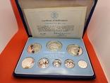 Белиз 1981 набор ПРУФ серебро/925 Птицы BOX + сертификат, фото №2