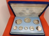 RAR!!! Белиз 1982 набор ПРУФ серебро/925 Птицы BOX + сертификат, фото №2