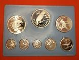 RAR!!! Белиз 1982 набор ПРУФ серебро/925 Птицы BOX + сертификат, фото №3