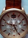Швейцарские наручные часы Edox 10005-37RAIR с хронографом, фото №11