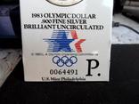 Доллар1983г,Олимпиада,в слабе, фото №4