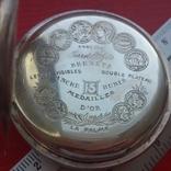 Часы BRENETS в серебряном корпусе трехкрышечные, фото №10