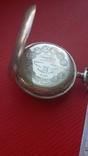 Часы BRENETS в серебряном корпусе трехкрышечные, фото №11