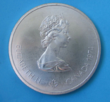 1974 Канада Серебро, 10 долларов Спорт, Олимпиада в Монреале s01, фото №5
