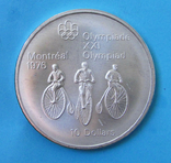 1974 Канада Серебро, 10 долларов Спорт, Олимпиада в Монреале s03, фото №2