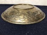 Блюдце для подношений, серебро 84. 1857 г, фото №3