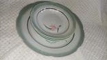 Одна велика і 3 менші тарілки з клеймом, фото №3