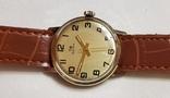 "Швейцарские часы ""TR Quik"" 17 jewels в жёлтом корпусе Swiss made 1980 года., фото №2"