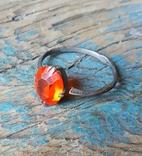 Кольцо серебряное СССР 875 пробы (лопнутое), фото №2