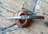Кольцо серебряное СССР 875 пробы (лопнутое), фото №3