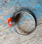Кольцо серебряное СССР 875 пробы (лопнутое), фото №5