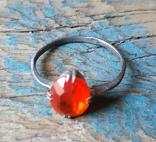 Кольцо серебряное СССР 875 пробы (лопнутое), фото №6