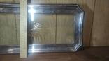 Старый поднос с родным стеклом, фото №5