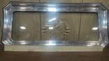 Старый поднос с родным стеклом, фото №6
