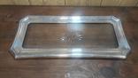 Старый поднос с родным стеклом, фото №2