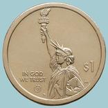США, 1 доллар 2021 года, Вирджиния, мост-туннель через Чесапикский залив. Двор D (0821-3), фото №3