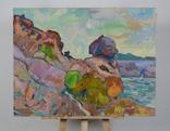Морской пейзаж со скалами. Петр Добрев, фото №2