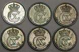 6 монет по 10 оре, Дания, 1914-19 г.г., фото №3