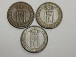3 монеты по 1 оре, Норвегия, фото №2