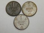 3 монеты по 1 оре, Норвегия, фото №3