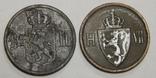 2 монеты по 2 оре, Норвегии, фото №3
