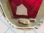 Подвеска серебро в позолоте, фото №8