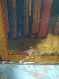 Старая храмова икона. Изображение святые. Размер высота 71/62см., фото №8