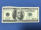 100 долларов США КВ28888803F, фото №3
