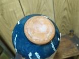 Керамическая вазочка. Высота 15см, фото №7