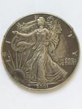 2001 год 1 oz Шагающая свобода., фото №3