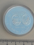 1 доллар, Канада, 1974 год, 100 лет городу Виннипег, серебро, фото №2