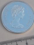 1 доллар, Канада, 1973 г., 100 лет конной полиции Канады, серебро, фото №2