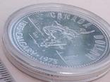 1 доллар, Канада, 1975 год, 100 лет городу Калгари, серебро, фото №5