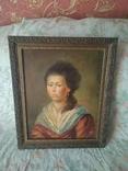 Старинный портрет. Красивой девушки подписная робота 1862год подпись художника есть, фото №2