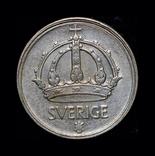 Швеция 10 эре 1946 серебро, фото №2