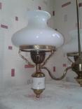 Люстра трехрожковая с фарфоровыми вставками времен СССР., фото №4