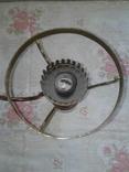 Люстра трехрожковая с фарфоровыми вставками времен СССР., фото №5