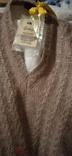 Винтажный мохеровый свитер сV-образным вырезом. Индия. Гретвей. 46р, фото №4