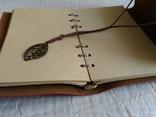 Блокнот для записей в кожаной обкладке(см описание), фото №9
