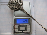 Десертные щипцы 800 пробы 52.6 гр, фото №12