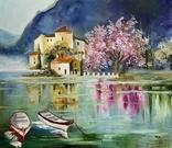 Картина Весенний пейзаж масло живопись, фото №2