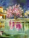 Картина Весенний пейзаж масло живопись, фото №3