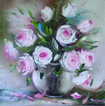Картина Розы масло живопись, фото №2