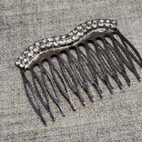 Гребешок для волос заколка посеребрение, фото №3