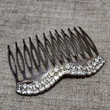 Гребешок для волос заколка посеребрение, фото №7