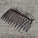 Гребешок для волос заколка посеребрение, фото №9