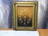 Настенные кварцевые часы янтарь на ходу, фото №2