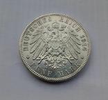 1914 г - 5 марок Германии,Людвиг 3 ,Бавария,серебро, фото №5