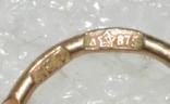 Серьги серебро 875 позолота СССР, фото №5